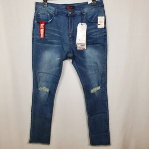 Red Bottoms sz 16 jeans skinny ankle crop midrise